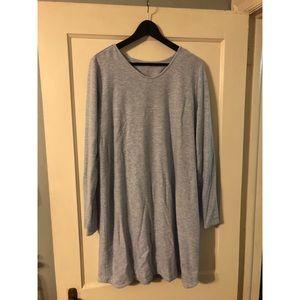 Lauren James size XL long sleeve scalloped dress